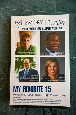 Emory Law Alumni Weekend- My Favorite 15