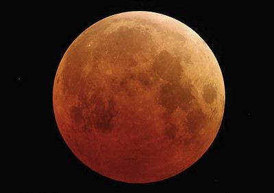 Super Blood Moon - Image courtesy of NASA