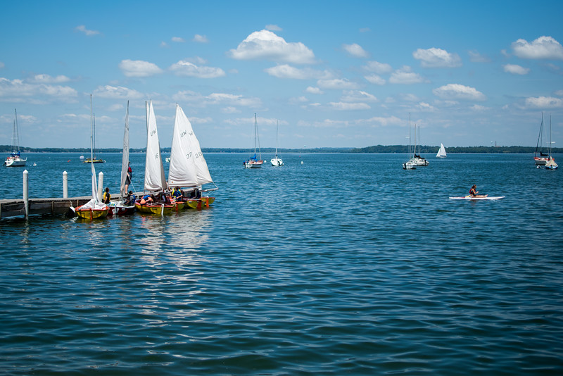 Sailboats on Lake Mendota