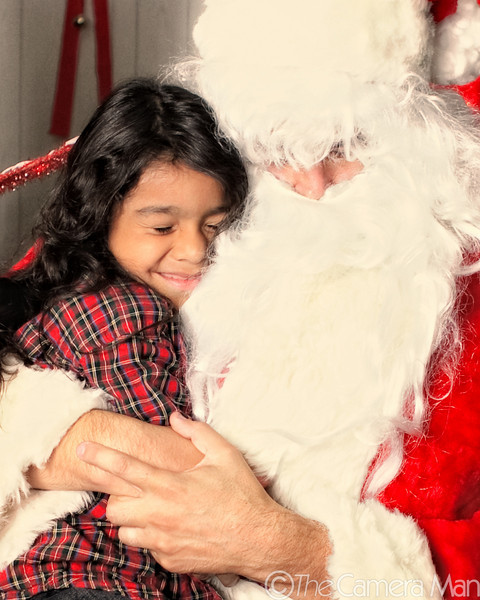 Santa at Hickam Bowling Alley - December 16, 2009