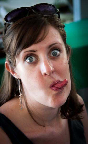Rachelle, what a face!
