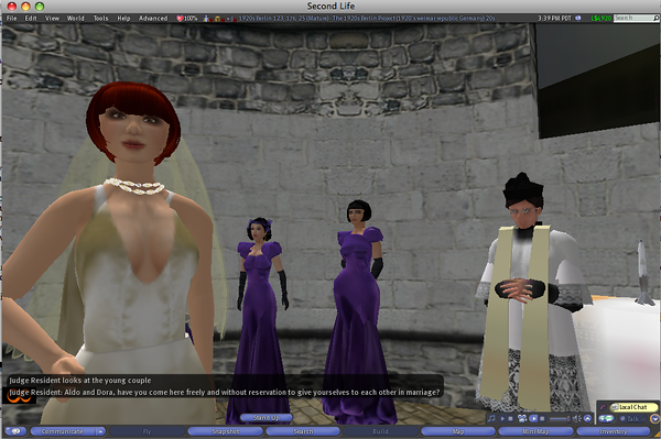 Dora's wedding in SL