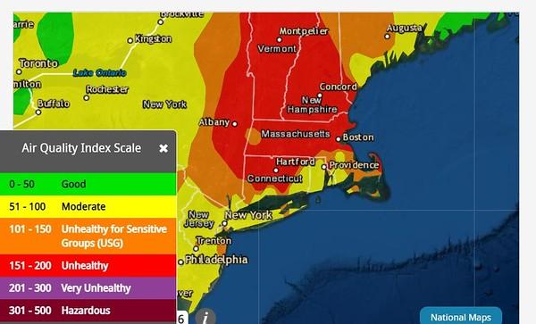 Air Now Air Quality Map 7-26