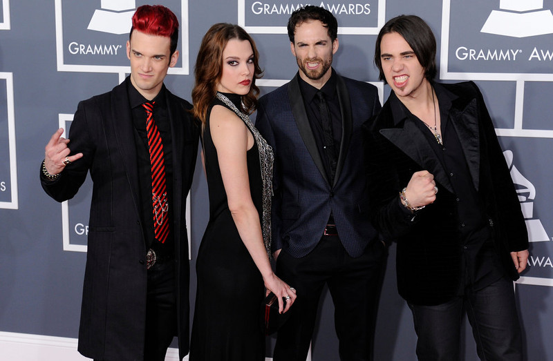 . Halestorm arrives to  the 55th Annual Grammy Awards at Staples Center  in Los Angeles, California on February 10, 2013. ( Michael Owen Baker, staff photographer)