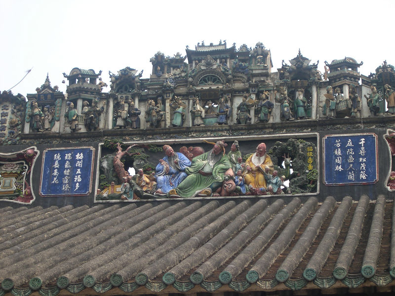 Roof carvings at the Chen Clan compound in Guangzhou