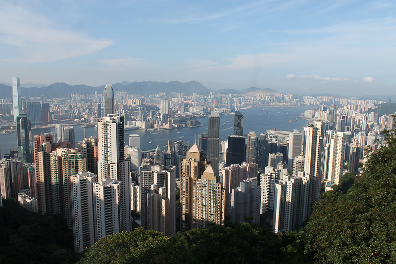 Views from Victoria Peak in Hong Kong