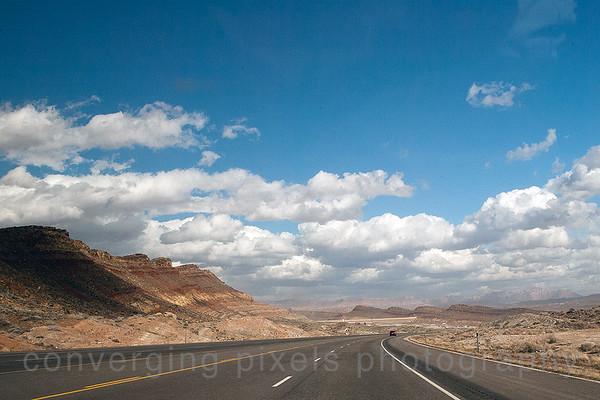 Exiting the Virgin Gorge…entering Utah