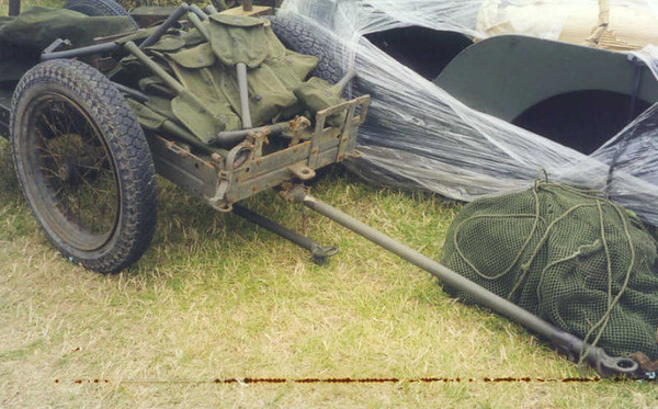 MODEL 1942 MARINE CORP CART SET UP AS MORTAR CART. OVERSEAS SURPLUS