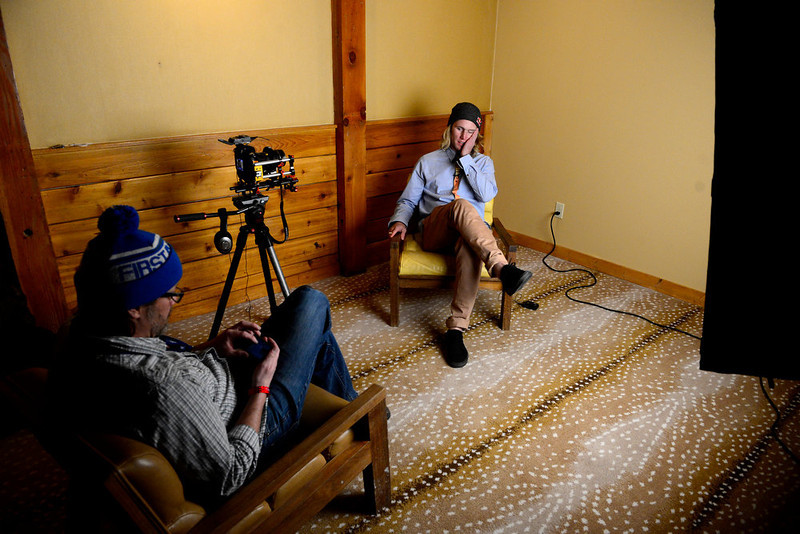 . ASPEN, CO. - JANUARY 23: Russell Henshaw speaks during an interview. X Games 17 Sky Hotel Aspen January 23, 2013 (Photo By AAron Ontiveroz / The Denver Post)