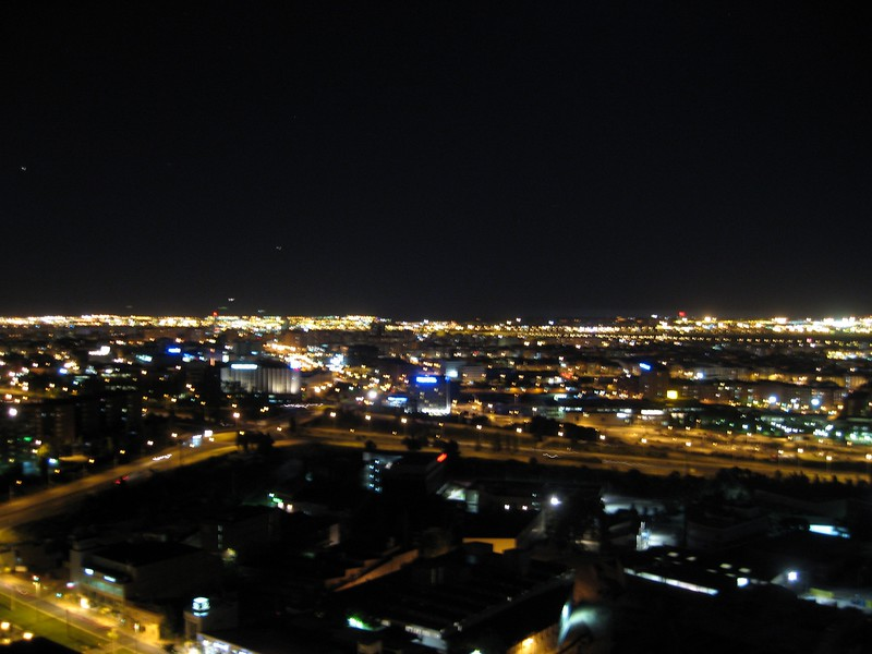 Nighttime in Sant Joan Despí, a suburb of Barcelona