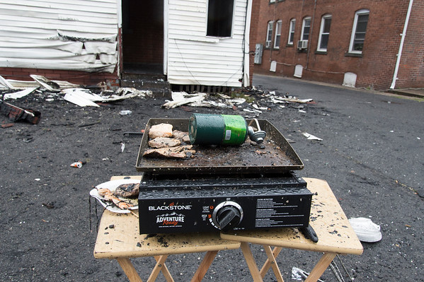 06/25/19 Wesley Bunnell | Staff A fire broke out at a three floor residence at 39 South Whiting St in New Britain on Monday June 24, 2019 at approximately 8pm with firefighters on the scene until approximately 4am Tuesday morning. Food is still visible on a portable grill in the back of the home
