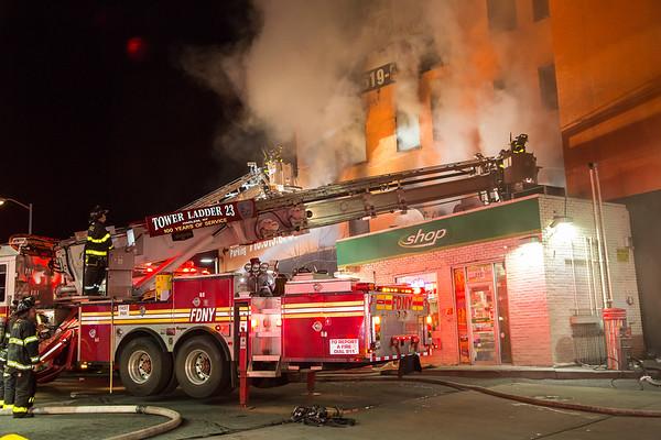Bronx NY 3rd alarm+ box 2152,  261 Walton Ave.  04-09-17