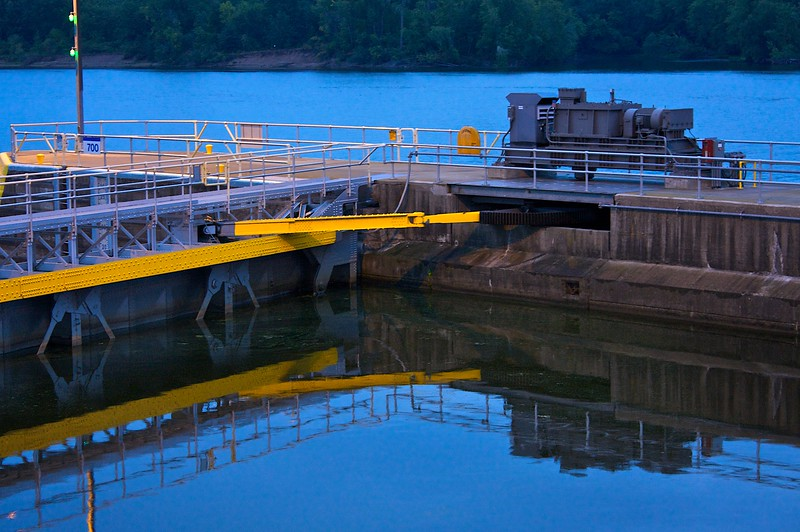 Engineering....a lock on the Mississippi River.