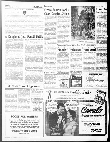 Daily Trojan, Vol. 40, No. 127, April 27, 1949