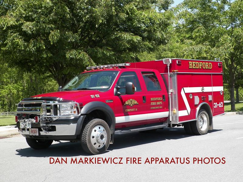 BEDFORD FIRE DEPT. UNIT 31-62 2006 FORD/SWAB MINI PUMPER