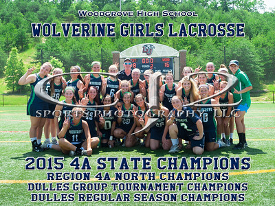 2015 Woodgrove Girls Lacrosse State Champions