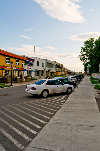 The high street in Gaspe, QC