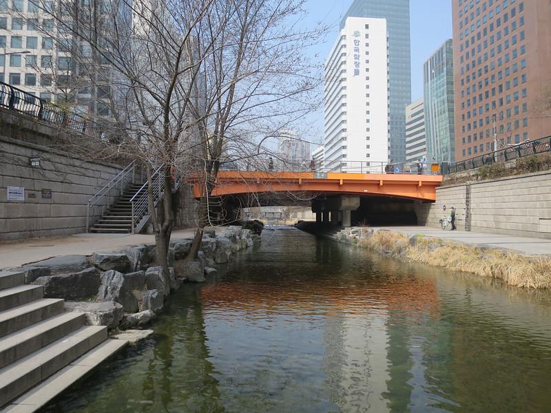 Wandelen in downtown Seoul