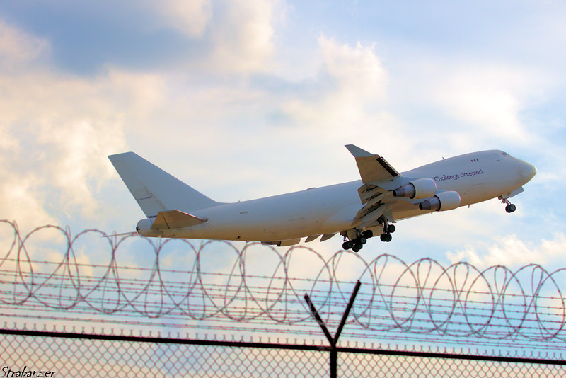 Boeing 747-412FSCD - MSN 26561 - 4X-ICB  Cargo Air Lines Taking Off for Liege  KATL, GA, USA  09/29/2018 This work is licensed under a Creative Commons Attribution- NonCommercial 4.0 International License.