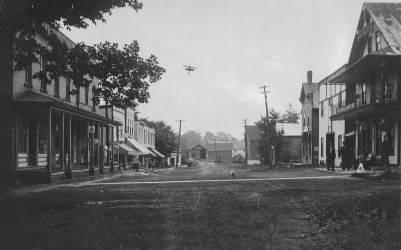 Brasher Falls, Main St. looking down towards Bridge...1904