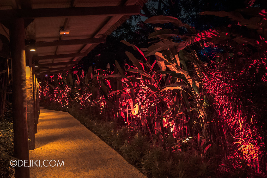 Singapore Zoo Rainforest Lumina - Fire zone