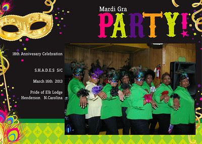 "S.H.A.D.E.S.  S/C 18th Anniversary ""Mardi Gra"" Celebration"