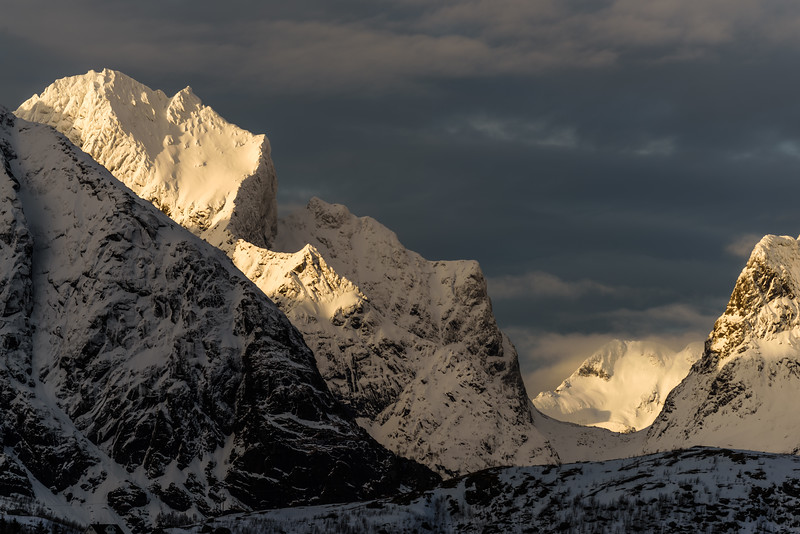 Mountains with light