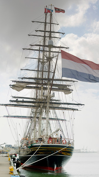 A stern view of the Stad Amsterdam