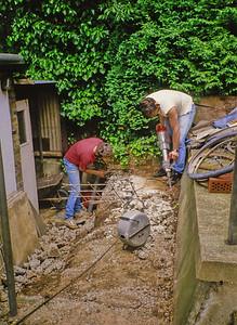 Digging at the Hut