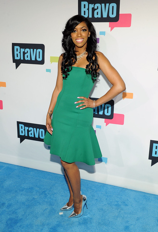 . Porsha Stewart attends the 2013 Bravo New York Upfront at Pillars 37 Studios on April 3, 2013 in New York City.  (Photo by Craig Barritt/Getty Images)