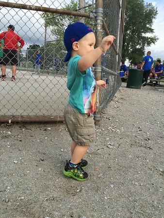 Shawn Thomas Watching Softball