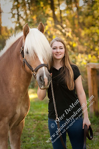 Dana and her Haflinger Senior Portraits