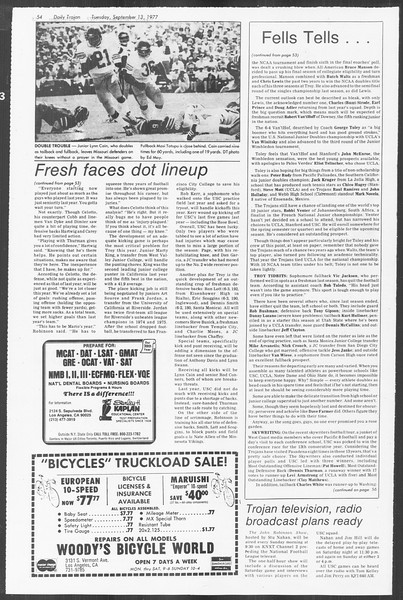 Daily Trojan, Vol. 72, No. 1, September 13, 1977