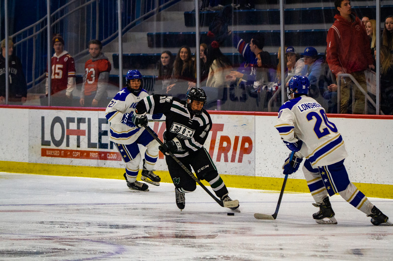 Holy Family Boys Varsity Hockey vs. Academy of Holy Angels, 12/21/19: Charlie Lindberg '21 (10)