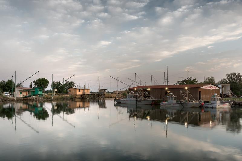 Fishing Shacks - Porto Garibaldi, Comacchio, Ferrara, Italy - June 10, 2017