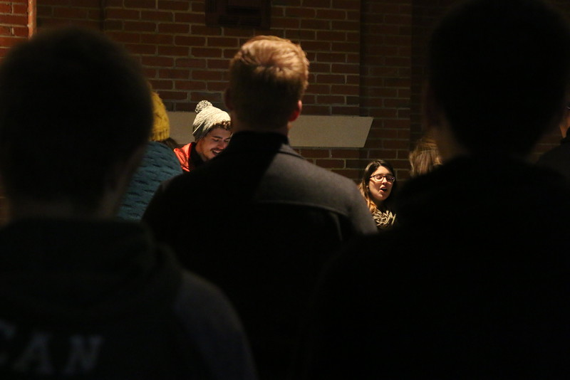 GWU junior, Alex Stewart and GWU sophomore, Sarah Branch led the students in a beautiful time of worship through music.