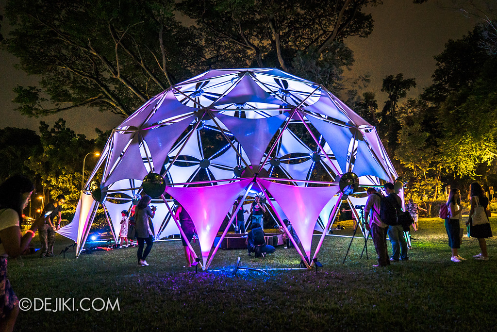 Singapore Night Festival 2017 / The Flower of Life and the Infinite Self by Starlight Alchemy dome exterior