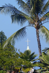 Church in the Keauhou Area - Vertical December 2012, Cynthia Meyer, Hawaii