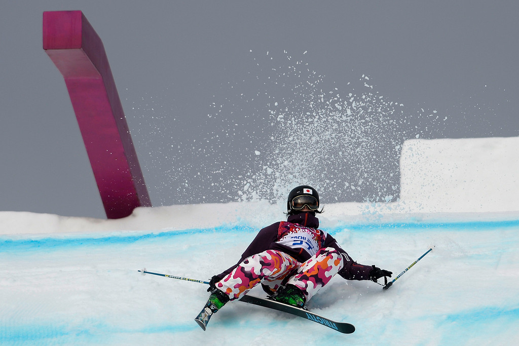 . Katie Summerhayes of Great Britain  competes in the Womens Ski Slopestyle Qualification in Rosa Khutor Extreme Park at the Sochi 2014 Olympic Games, Krasnaya Polyana, Russia, 11 February 2014.  EPA/Michael Kappeler