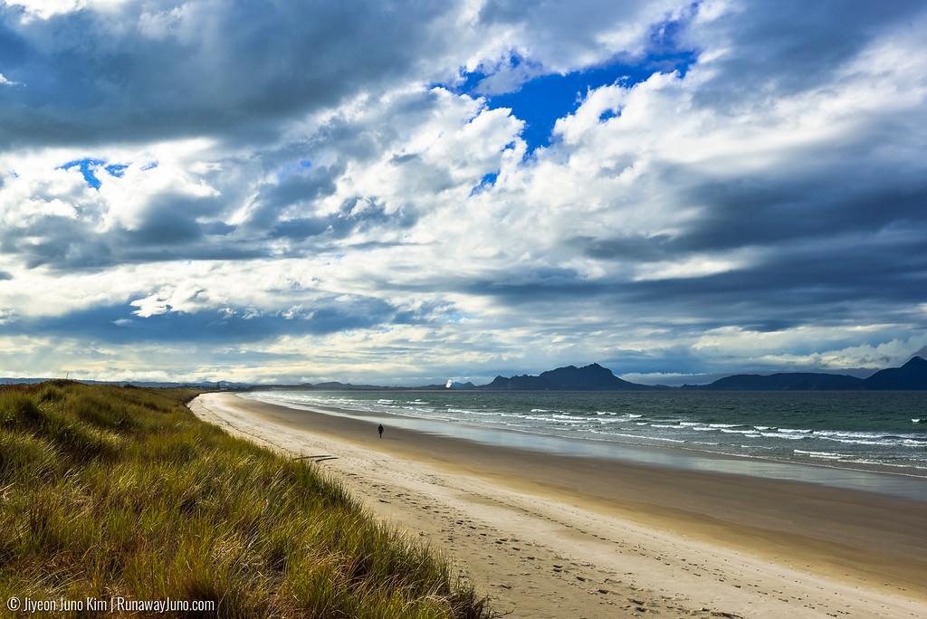 Ruakaka Beach of New Zealand.
