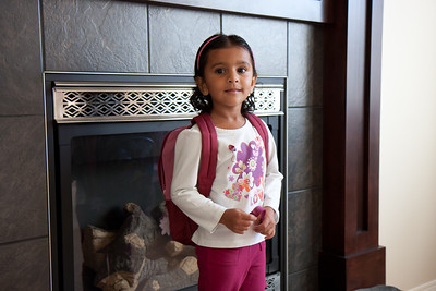 Sakshi's First Day of Preschool