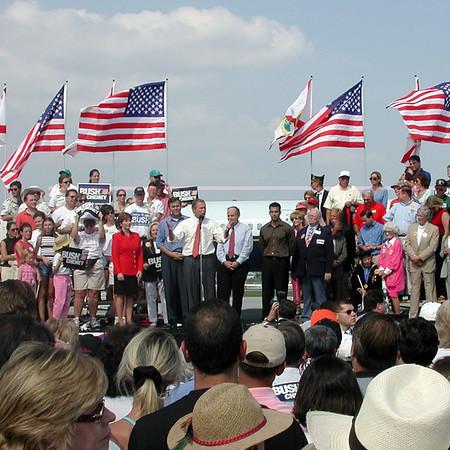 Campaign Pep Rally - November, 2000