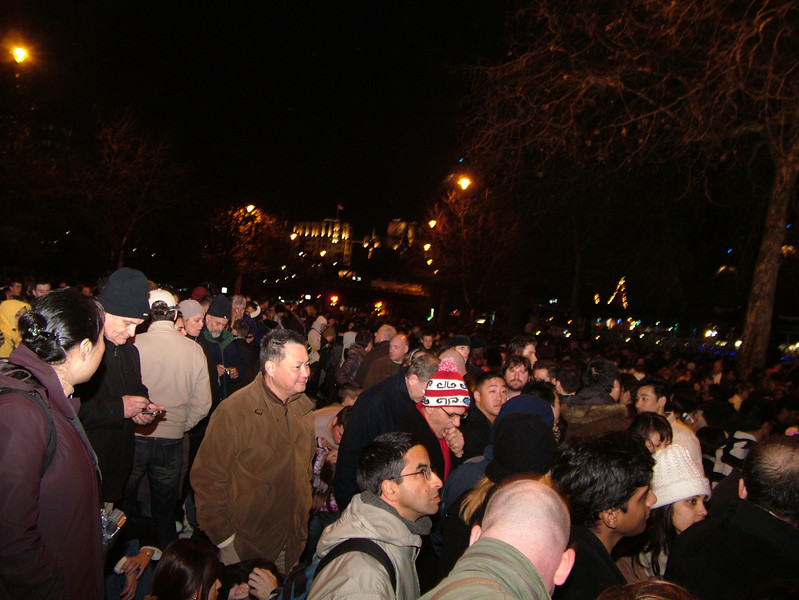 Crowds on New Year's Eve, London
