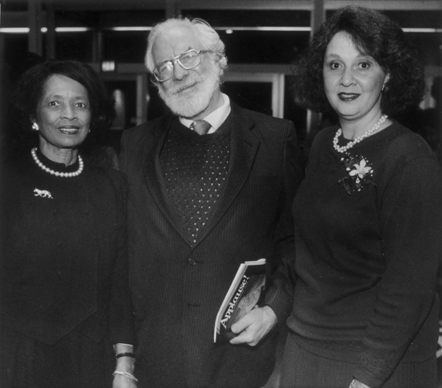 . This is a 1991 photo of Henry Lowenstein (C) Edna Mosley (L) and Barbara Williams (R).  (Denver Post Historical Collection)
