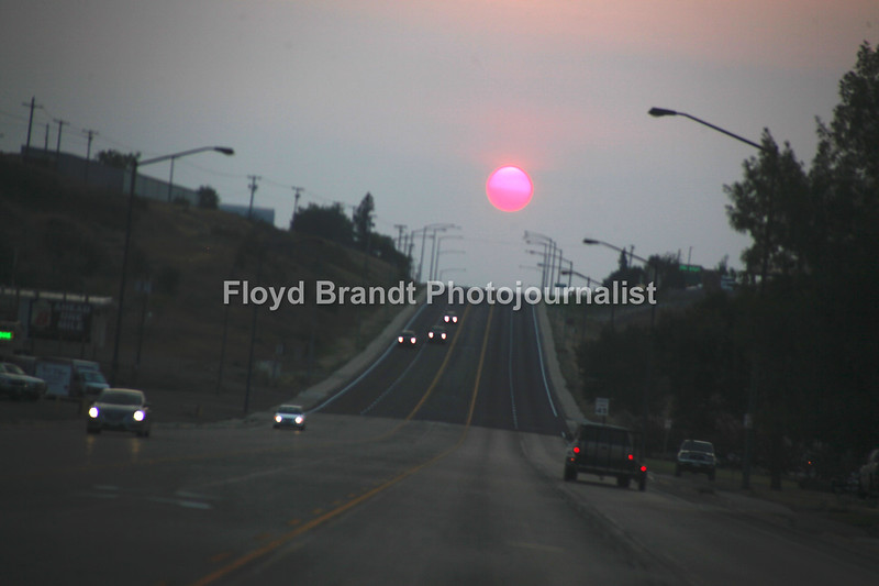 Havre Daily News  As the smoke clears the sun could be seen setting in Havre Saturday