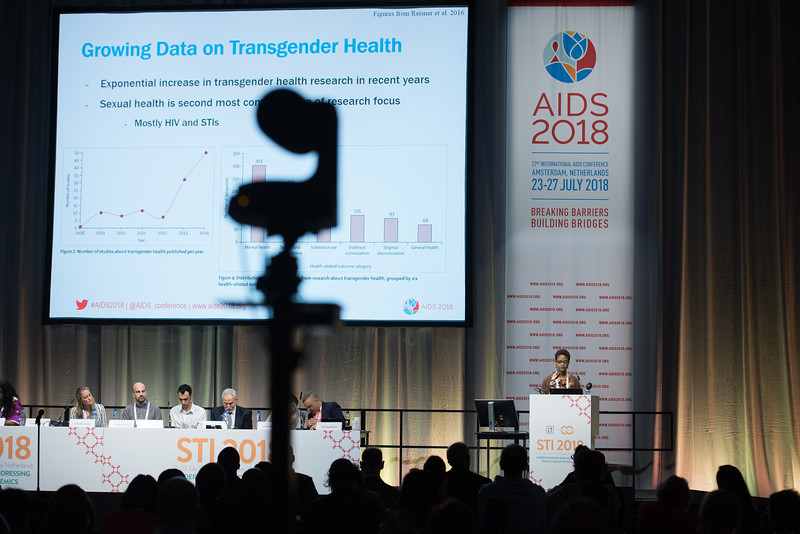 22nd International AIDS Conference (AIDS 2018) Amsterdam, Netherlands   Copyright: Marcus Rose/IAS  Photo shows: STI 2018. Key and Marginalised Populations. Speaker: Tonia Poteat.