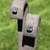 .54ctw Asscher Cut Diamond Bezel Stud Earrings, Platinum 2