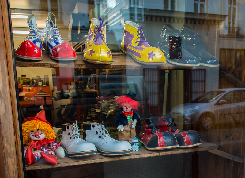 Shop window a block from the Cirque d'Hiver