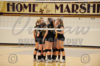 Marshfield vs North Bend - Varsity Volleyball - Sep 21, 2009