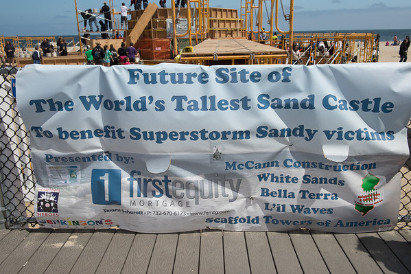 The Making of the World's Record Sandcastle, Pt Pleasant, NJ-5.5.13